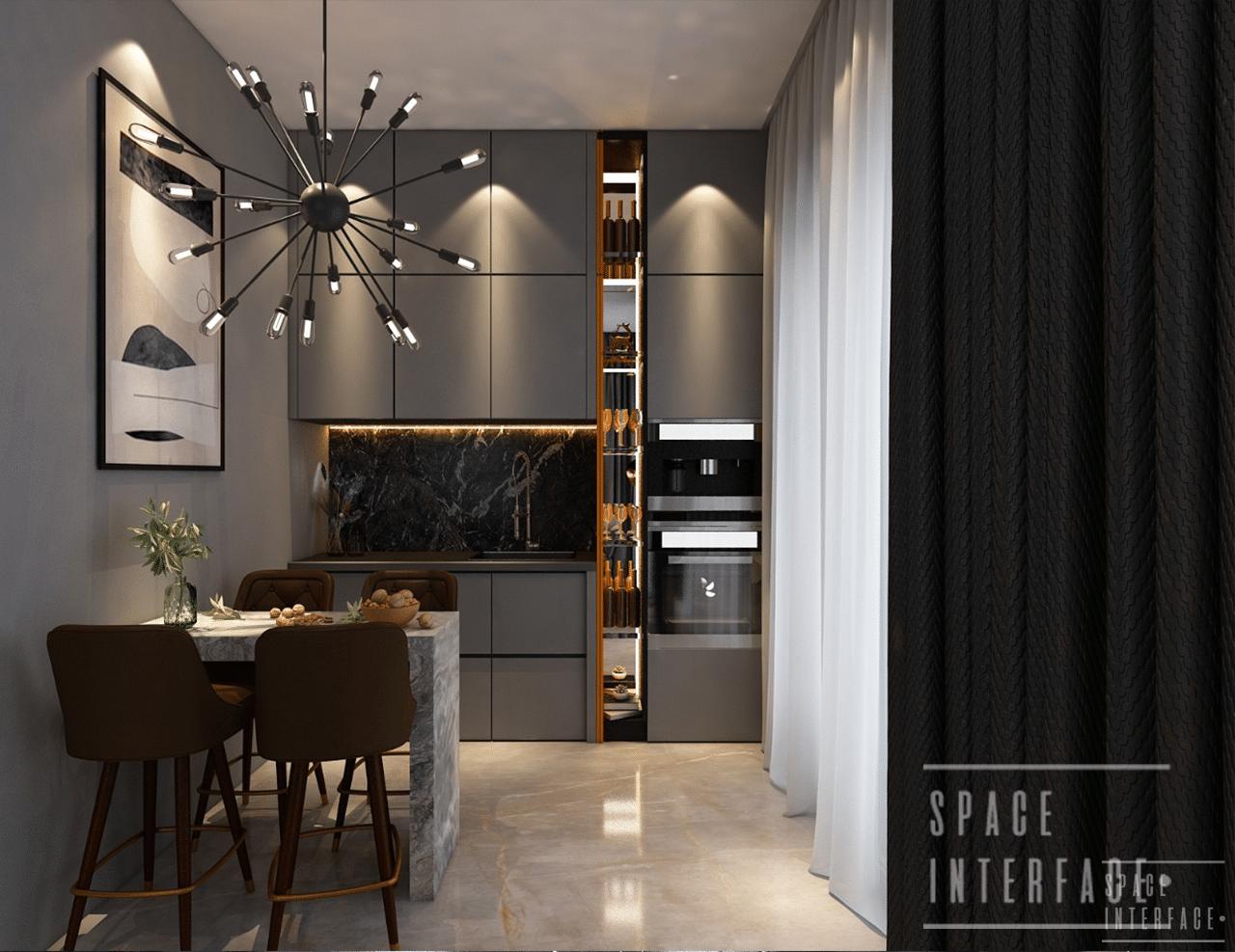 Bar design, sharma residence